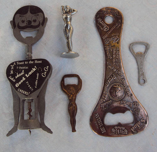 cork screws bottle openers amazing retro bottle opener collection french barman nude cheers. Black Bedroom Furniture Sets. Home Design Ideas