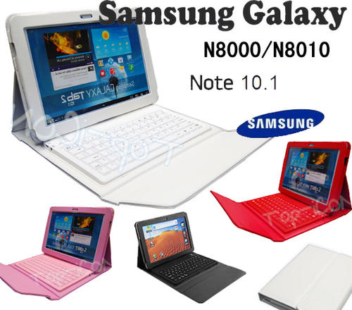 SAMSUNG GALAXY NOTE 10.1 N8000 BLUETOOTH KEYBOARD & PROTECTIVE CASE-NOW IN WHITE/BLACK/RED & PINK !
