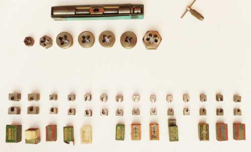 vintage tap & die set