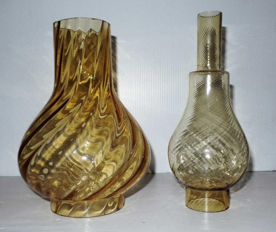 VINTAGE GLASS FUNNEL FOR LAMP