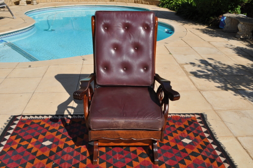 Chairs, Stools U0026 Footstools   Imbuia Wagon Wheel Rocking Chair     Collections Only!! Was Listed For R1,080.00 On 30 Jun At 21:31 By Mseh In  Johannesburg ...