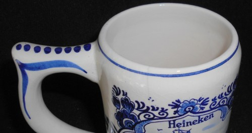 Large Blue Delft Heineken Holland Beer Mug