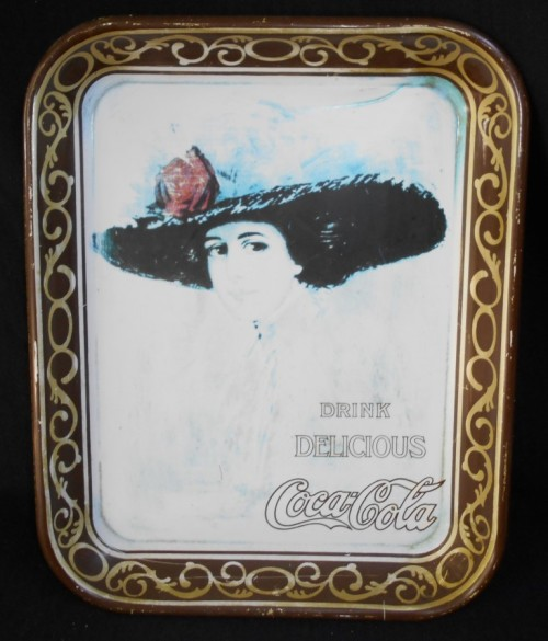 Vintage CocaCola Collectible Sqaure Tin Advertising Tray