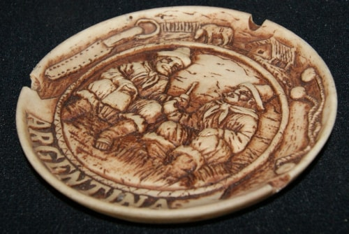 Decorative Argentian Carved Ashtray