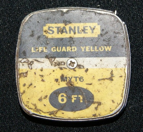 Vintage Stanley Lifeguard Yellow MYT6 6 ft Tape Measure