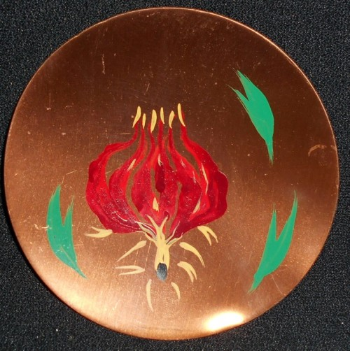 Vintage Richard Mead Rhodesian Copperware Hand Painted Dish