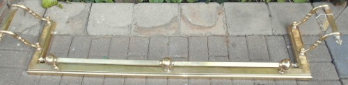 Vintage Massive Solid Brass Fire Surround