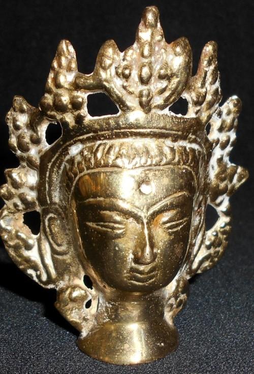 Metal vintage solid brass small oriental goddess