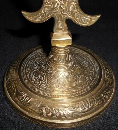 Vintage 3 Candle Hand Made Brass Candelabra