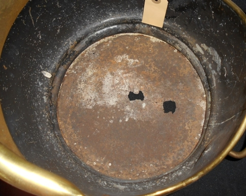 Vintage Large Brass Coal Scuttle