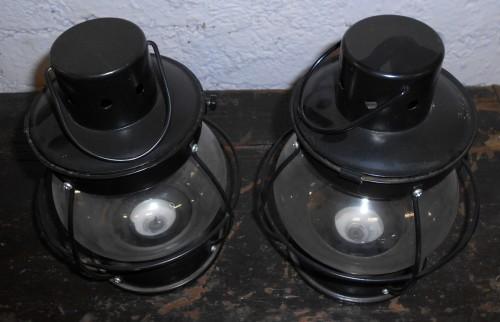 Pair of Glass Lanterns