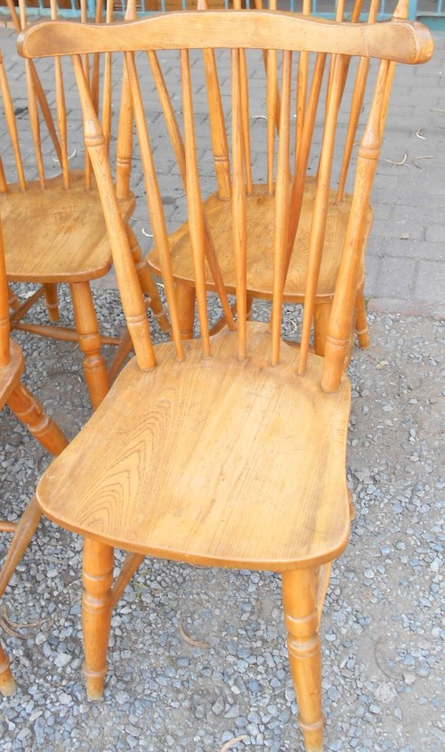 Oak Spindle Dining Chairs ~ Chairs stools footstools vintage set of solid oak
