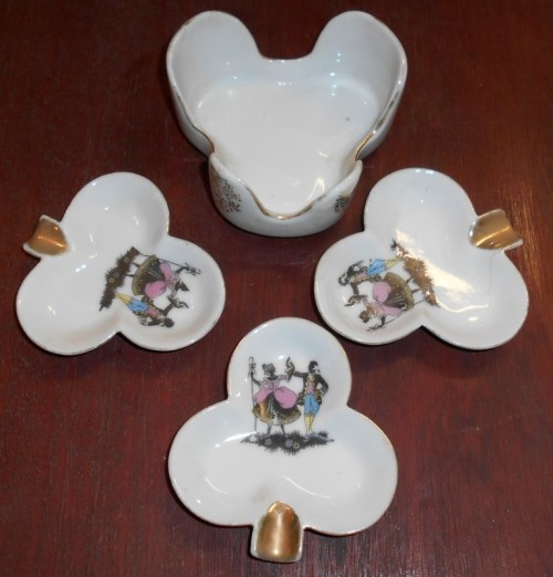 Cigar 3 leaf Clover Shaped Cigar Ashtrays