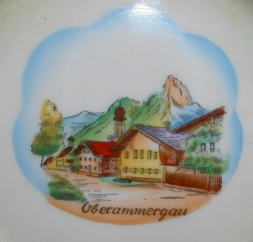 Vintage Rudolf Wachter RW Bavaria Oberammergau Souvenir Ashtray