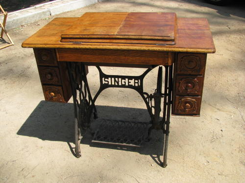 cabinets antique singer sewing machine in ornate cast iron and oak rh bidorbuy co za