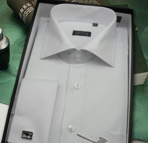 ad288633d Shirts - Gucci men's shirt on cufflinks size Large (42) Color: white ...