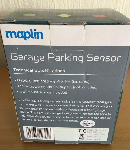 other gadgets maplin garage parking sensor light was. Black Bedroom Furniture Sets. Home Design Ideas