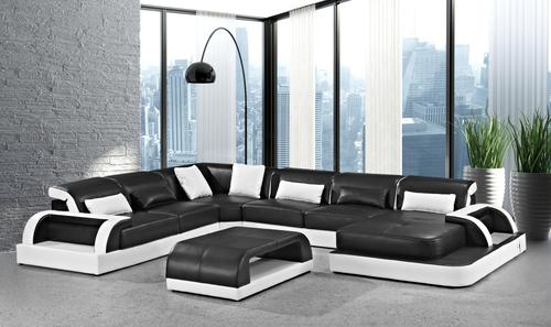 Lounge Suites Contemporary Leather Lounge Suite Was