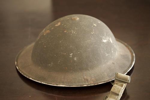 AUTHENTIC WWII ERA BRODIE HELMET - MAN CAVE TREASURE!!