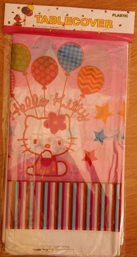 Party tableware serveware hello kitty table cover was for Table exterieur hello kitty