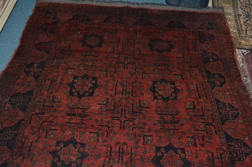 Rugs Carpets Nice Vintage Persian Rug Maroon 206 Cms By 132 Second Hand