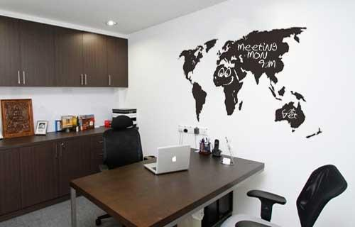 Decorative art vinyl wall art world map writeable was sold for vinyl wall art world map writeable gumiabroncs Images