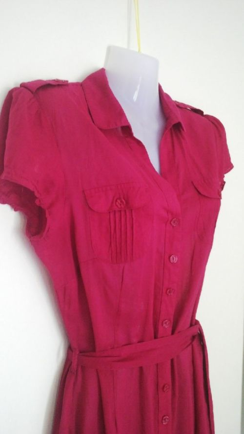 Casual Dresses - Cerise Pink Shirt Dress by Warehouse Size 10 was ...