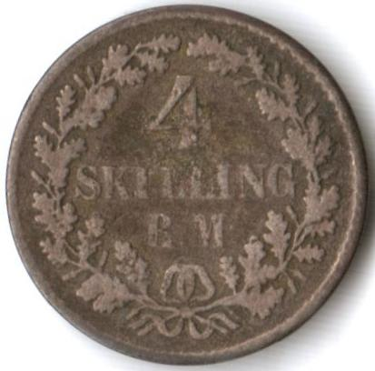 Europe - Denmark 4 Skilling 1854 - as per scan was listed for R50.00 ...