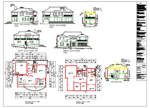 Building plans 2x double storey house plans for the for Building plans in autocad format
