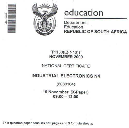study guide n4 digital electronics today manual guide trends sample u2022 rh brookejasmine co Industrial Electronics Logos Industrial Electronic Supply INC