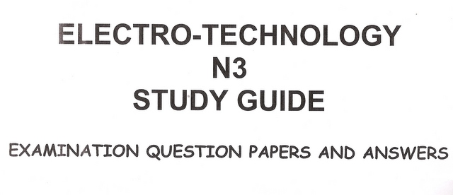 business management sciences electro technology n3 exam rh bidorbuy co za Examples Study Guide Pretty Study Guides