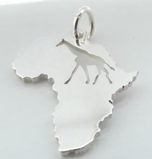 Ethnic tribal jewellery map of africa pendant with giraffe map of africa pendant with giraffe piercing by dazzling jewellers in sterling silver aloadofball Images