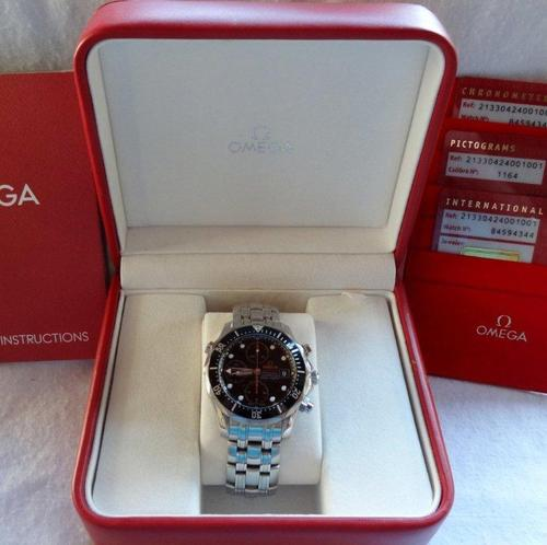 Omega Seamaster 300m Chronograph Mens Watch. Box Cards Instruction Book. & Menu0027s Watches - Omega Seamaster 300m Chronograph Mens Watch. Box ... Aboutintivar.Com