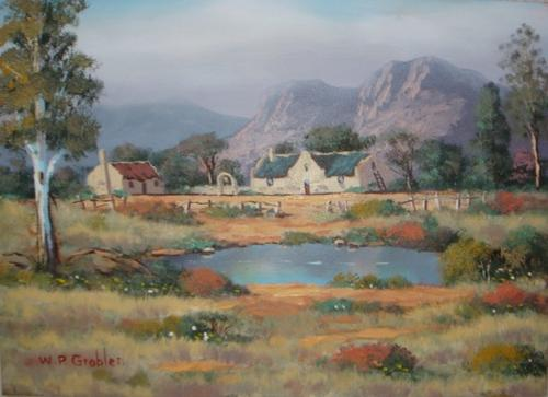 Paintings wp grobler painting worcester was sold for for Landscaping rocks for sale johannesburg