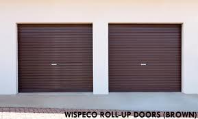 Other Home Security Wispeco Roll Up Garage Door Brown