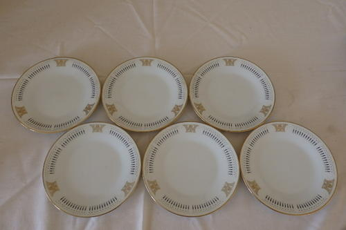 Oriental porcelain a stunning set of six noritake of japan a stunning set of six noritake of japan blakley pattern 2061 bone china cake sandwich plates fandeluxe Image collections