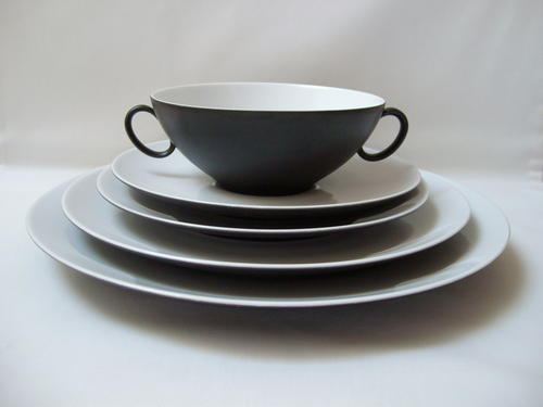 German Porcelain - RETRO GERMAN CONTINENTAL CHINA u0027CHARCOALu0027 43pc DINNER SET by RAYMOND LOEWY for ROSENTHAL c1960u0027s was listed for R16500.00 on 26 Jun at ... & German Porcelain - RETRO GERMAN CONTINENTAL CHINA u0027CHARCOALu0027 43pc ...