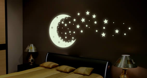 **Glow In The Dark Bedroom Stars For Kids**Perfect For A Bedroom Wall, Lamp  Shades, Doors**2 Avail*