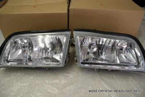 Other lighting accessories mercedes w202 c class crystal mercedes w202 c class crystal headlight set increase value of your car by replacing headlights fandeluxe Choice Image