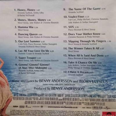 Mamma Mia! (2007) Soundtrack List