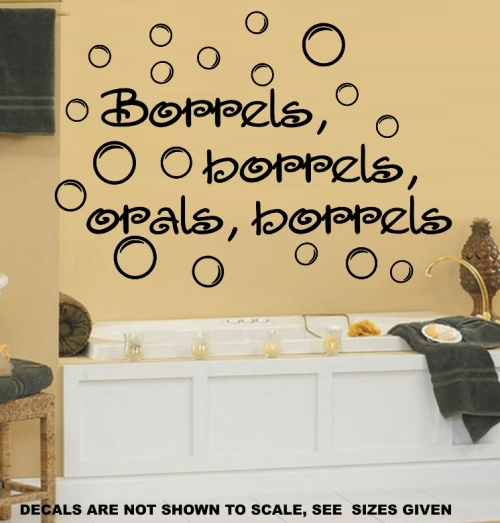 borrels, badkamer, muur plakker, plakker, kinders, seuns, dogters