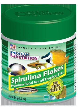 Fish food ocean nutrition spirulina flakes 34g was for Spirulina fish food