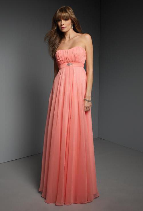Formal Dresses - Salmon pink grey chiifon lace up back off shoulder ...