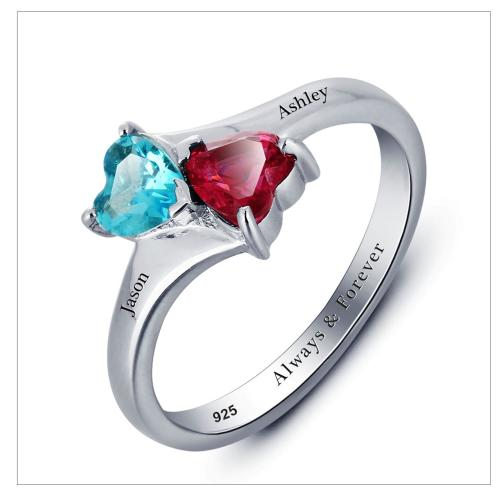 engagement rings solid 925 sterling silver personalized