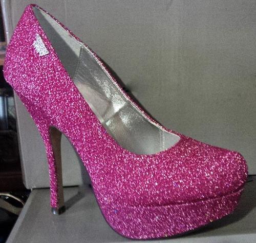 Pink Glitter Stilettos