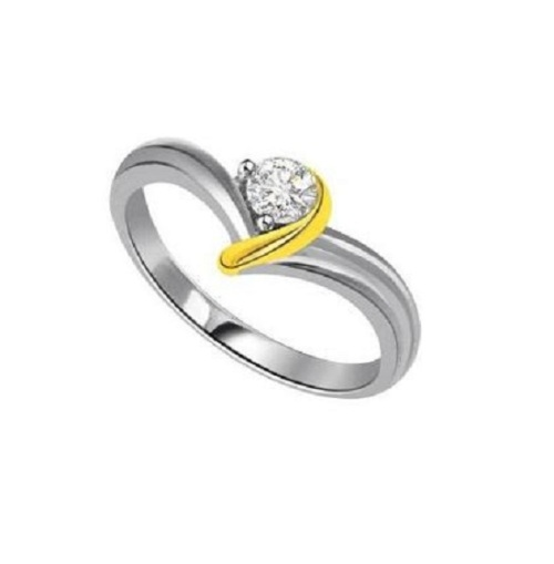 Rings Beautiful 0 10Cts Round Cut 100% Real Natural Diamond I Clarity 14Kt