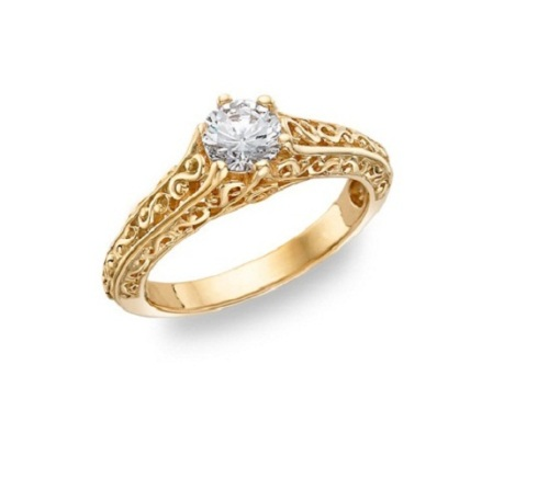 Rings Certified 0 50 Cts Solitaire Real Natural Diamond 14Kt Yellow Gold We