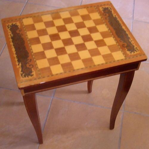 Antique Italian Inlaid Table Music Box