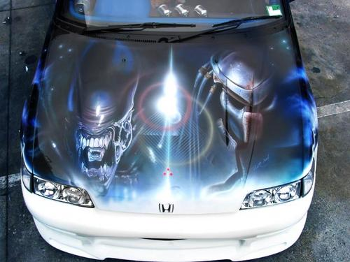 Paints Finishing Bonnet Airbrush Gift Voucher Was Sold For - Graphics for car bonnets