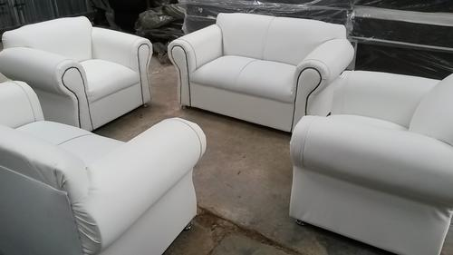 4pc 6 Seater White Lounge Suite New